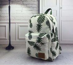 New Designed Backpack Pineapple Printing School Bags For Teenager Girls Casual Bookbags Travel Bag Laptop Rucksack Mochila Bags Travel, Backpack Travel Bag, Laptop Backpack, Beach Backpack, Rucksack Backpack, Cute Pineapple, Pineapple Print, Pineapple Express, Pineapple Backpack
