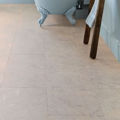 Image of Professional V Groove Marble Tiles - Howdens bathroom Ivory Kitchen, Larder Unit, Marble Tiles, Kitchen Collection, Cabinet Doors, Storage Spaces, Tile Floor
