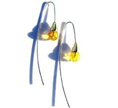 High Quality Lemon Amber and 14K Gold Plated Sterling Silver Ball Earrings --- http://www.pinterest.com.tocool.in/3jk