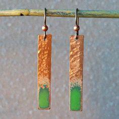 Pop of Color Enamel Earrings Tutorial |  www.rings-things.com