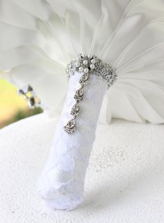 Champagne Wedding Broach Bouquet. Deposit on silver and gold Brooch Bouquet. Made to order Heirloom Bridal Broach Bouquet
