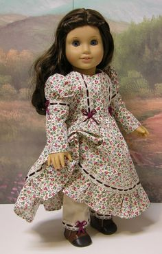Custom order for Laura - Dress and jacket with bonnet for American Girl doll