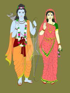 Lord Rama and Goddess Sita by Madhuchhanda on DeviantArt
