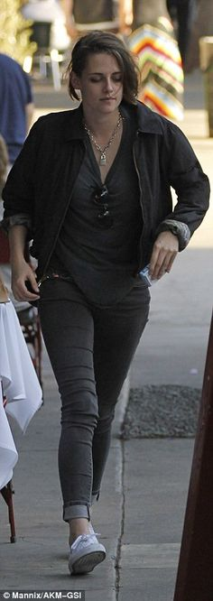 Passing by: While she was seen at Little Dom's restaurant in Los Feliz, Kristen did not se...