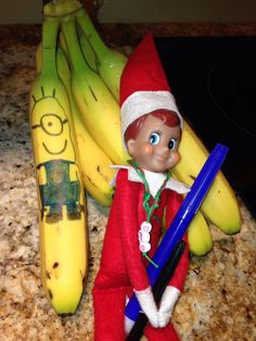 Elf on the Shelf love bananas....