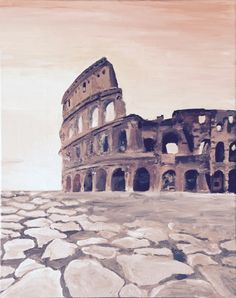 Jordan Ashley original - I was feeling a little nostalgic when I painted this. There's no place like Rome. Pisa, Rome, Creativity, Louvre, The Originals, Building, Places, Travel, Viajes