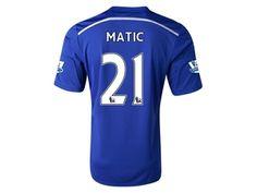 Men s 2014 15 Chelsea Nemanja Matic 21 Blue Home Soccer Jersey (US Size  Medium 55f6a69dcb873