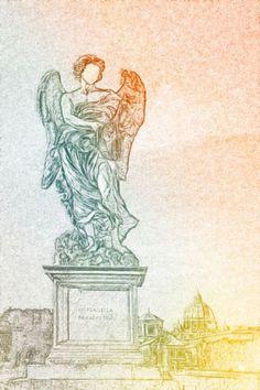 Buy Angel (Castel Sant'Angelo, Rome), Digital Art (C-Type) by Marco Scataglini…