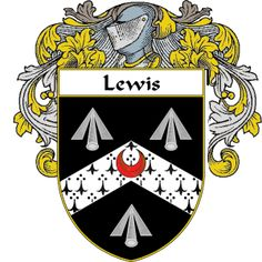 Lewis Coat of Arms namegameshop.com has a wide variety of products with your surname with your coat of arms/family crest, flags and national symbols from England, Ireland, Scotland and Wale