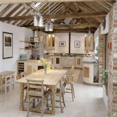 Threshing Barn is a beautiful Victorian post and beam frame 1840s barn conversion in England.