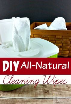 Homemade Cleaning Wipes - Skip the paper towels and the disposable wipes and make your own homemade cleaning wipes instead! They're filled with all-natural cleaning and disinfecting power and super cheap to make too!
