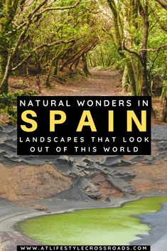 Spain may surprise you with its secret natural wonders - pink and green lakes, endless deserts and steaming volcanoes, ancient trees, and peculiar rock formations. Check this ultimate list of otherworldly landscapes in Spain | Spain Beautiful Places | Spain Travel Destinations | Top sights to visit in Spain | Spain travel guide | Spain Travel bucketlist | Nature North Spain | Spain Photography | Otherworldly Landscapes | Spain Nature lovers | Off the beaten path Spain | Spain Travel Blog Europe Destinations, Places In Europe, Europe Travel Tips, European Travel, Travel Guides, Places To Travel, Malta, Monaco, Spain Travel Guide