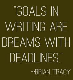 """Goals in writing ar"