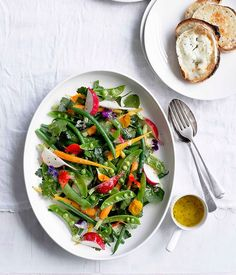 Grilled Goat's Cheese Toasts with Garden Salad vegetarian recipe | gourmettraveller.com.au