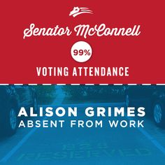 Social media graphic for Mitch McConnell, showing the difference between his voting record and opponent Alison Grimes. Our team creates digital content that is inspiring, engaging, and entertaining. See more of Harris Media's work in Republican politics: www.harrismediallc.com