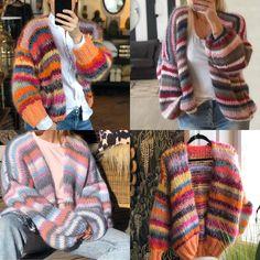 Mohair Yarn, Mohair Sweater, Circular Knitting Machine, Striped Cardigan, Jumpers, Plaid Scarf, Lana, Knit Crochet, Knitwear
