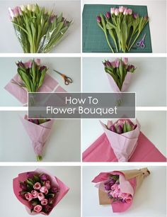 Transform store-bought cheap flowers in to a beautiful wrapped bouquet! How To Wrap A Bouquet of Flowers   The Things She Makes