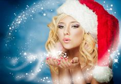christmas and New Year Winter Snow Maiden Beautiful Fairy Girl hd wallpaper