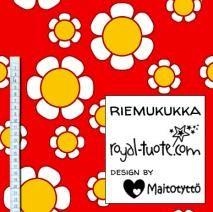 Trikoo Riemukukka - punainen / Jersey Joyflower - red
