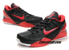 Nike Zoom Kobe 7 Black Varsity Red White 488244 002