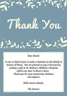 writing donation thank you letters Best Funeral Thank You Cards Sympathy Thank You Notes, Thank You Note Wording, Funeral Thank You Notes, Sympathy Quotes, Thank You Messages, Sympathy Cards, Thank You Quotes For Coworkers, Thank You Quotes For Helping, Writing Thank You Cards