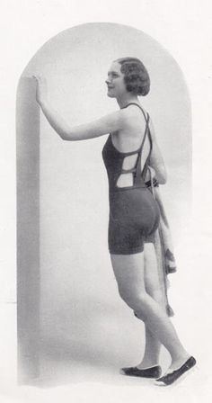 Vintage knitted swimming costume