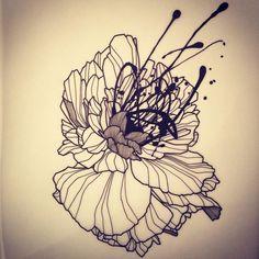 Wildstyle Flower! Dispo pour être tatoué! Pour réserver >>…