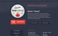 Bar Camp Omaha - Web Design Inspiration