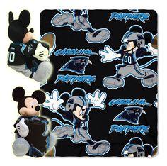 d543417ef Panthers - Disney 40x50 Fleece Throw w/ 14 Plush Mickey Hugger Nfl Panthers,  Nfl