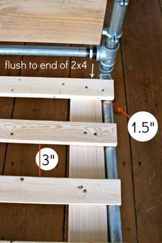 DIY Pipe Bed How to Step 12                                                                                                                                                                                 More
