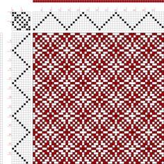 draft image: Threading Draft from Divisional Profile, Tieup: Baldwin's Textile Designer Vol. 1 No. 7 July, 1888, Draft #53946, 8S, 8T