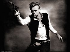 James Dean as Han Solo by rabbittooth.com