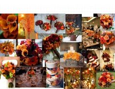 Orange & Brown Fall Wedding