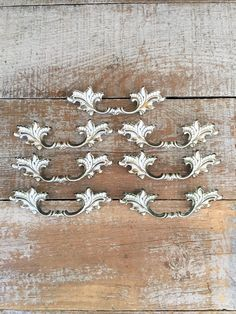 Drawer Handles 7 Drawer Pulls French Country Handles Ornate Brass Handles  Antique Hardware Dresser Handles Cabinet Door Handles Cottage Chic