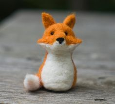 Needle Felted Fox. $20.00, via Etsy.