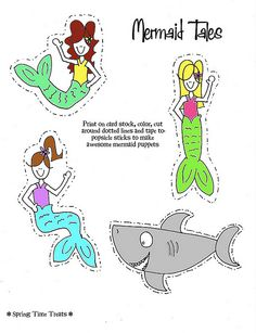 Lots of free printable popsicle stick puppets -- mermaids, pirates, cowboys, fairies, etc.