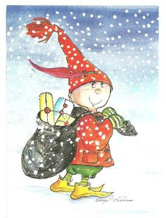 Postcrossing postcard from Finland Christmas Cartoons, Christmas Clipart, Vintage Christmas Cards, Christmas Images, Xmas Cards, Winter Christmas, Christmas Journal, Winter Art, Whimsical Art