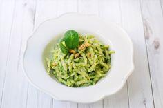 Trofie al pesto di noci e spinaci