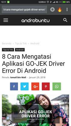 8 cara mengatasi aplikasi Gojek Driver error di android. Baca caranya di androbuntu.com