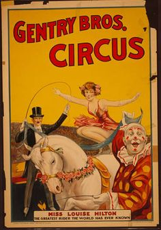 animal poster, circus, classic posters, free download, graphic design, retro prints, vintage, vintage posters, wildlife, Gentry Bros. Circus...