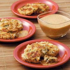Crab Cakes with Red Pepper Sauce Recipe from Taste of Home