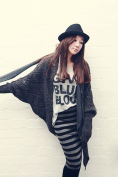 Cool Cable Ribbed Knitted Long Kimono Sleeved Poncho Open Cardigan 2 Colors