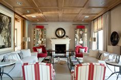 Simple and symmetrical by Luis Bustamante Living Area, Living Spaces, Living Rooms, Colors Of Fire, Classic Living Room, Classic Interior, Interior Inspiration, Family Room, Interior Design