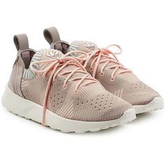 Adidas Originals ZX Flux ADV Virtue Primeknit Sneakers ($105) ❤ liked on Polyvore featuring shoes, sneakers, multicolored, multi colored sneakers, colorful shoes, multi colored shoes, multi color sneakers and multi color shoes