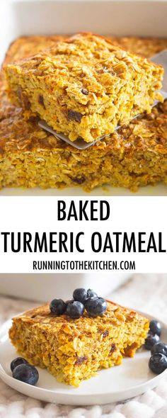 Baked Turmeric Oatme