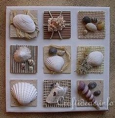 shell wall hanging: