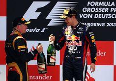 Sebastian Vettel and Kimi Raikkonen - F1 Grand Prix of Germany