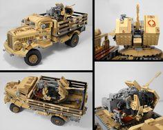 Lego Ww2, Lego Army, Lego Kits, Lego Truck, Lego Builder, Lego Projects, Custom Lego, Lego Technic, Lego Instructions