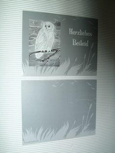 Trauer & Beileid - KunstRaub Nr.8 = geRIPpe Trauerkarte - ein Designerstück von tierisch-gelungen bei DaWanda