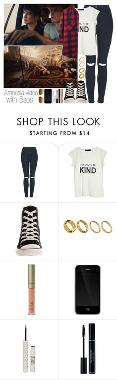 """Amnesia video with 5 seconds of summer"" by directioneruruguaya ❤ liked on Polyvore featuring Topshop, Tusnelda Bloch, Converse, Made, Ilia, Incase and Ray-Ban"